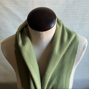 Women's Green Scarf Wrap with Fringes Scarves
